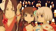 祭り火、灯籠流し