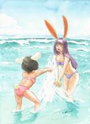毎月17日と18日はイナバの日「海で大はしゃぎ」