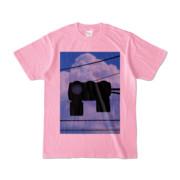 Tシャツ ピーチ 雲と信号