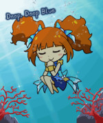 GIFアニメ 『Deep, Deep Blue』