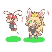 バニーマリオ・バニークッパ姫