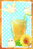 あつーい夏はすっきりあまいレモンのお茶をっ