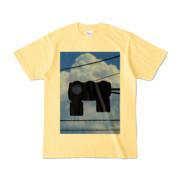 Tシャツ ライトイエロー 雲と信号