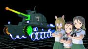 【MMDガルパン】ゲーミング戦車【GIFアニメ】