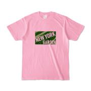 Tシャツ ピーチ NEW_YORK_GARDEN