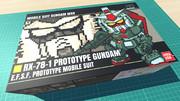 プロトタイプガンダム / 16色ドット絵ガンプラ箱絵風3D