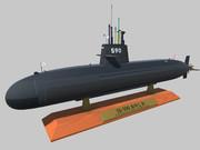 【Unity3D】おやしお型潜水艦(台座)