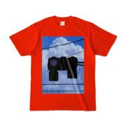 Tシャツ レッド 雲と信号