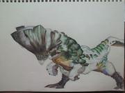 ボルボロス亜種 完成!! 色鉛筆です