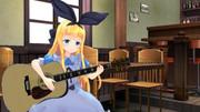 物述有栖ちゃんがギターを弾く画像【MMD】