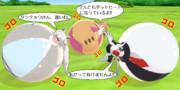 ホッキョクオオカミとタンチョウのデットヒート!!