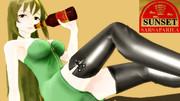 祭りの終わりに背景一色サンセット・サルサパリラ広告!【20夏MMDふぇすと展覧会】