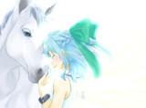 白馬と天使