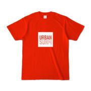 Tシャツ レッド URBAN_SURF!