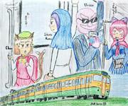 新学期の通学電車