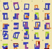 ニコニコタワー ブロックの組み合わせ例(001~025)