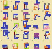 ニコニコタワー ブロックの組み合わせ例(051~075)