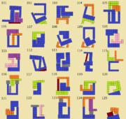 ニコニコタワー ブロックの組み合わせ例(101~125)
