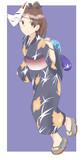 浴衣敷波(狐面装備)