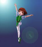 飛翔する少女