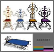 曲線装飾の椅子【MMDアクセサリ配布】
