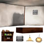 お菓子作りの材料屋さん背景素材 2