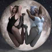 月のうさぎ・・・!?