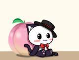 ポジティブ猫ヤミーくん  「桃」
