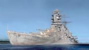 再塗装、戦艦「長門」