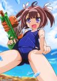水鉄砲とスク水娘