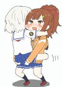 タマちゃんを運ぶメイちゃん