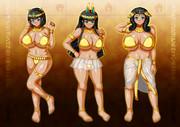 古代褐色巨乳3人娘
