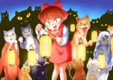 ゲゲゲの鬼太郎5期のOPのネコ娘さん(の模写です)