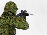練習:20式小銃を構えた自衛隊員