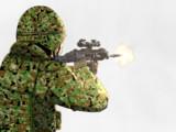 練習:20式小銃を構えた自衛隊員(発砲ver.)