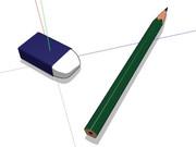 【モデル配布あり】鉛筆と消しゴム