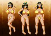古代褐色巨乳3人娘2
