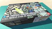 ガンダム試作2号機 MLRS仕様 / 16色ドット絵ガンプラ箱絵風3D