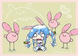 ウサギさんに囲まれて楽しそうな兎田ぺこらちゃん