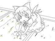 【描画】捕猎中の⑨(⑨月⑨日纪念)
