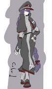 軍服デザイン1 黒赤紫