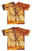Tシャツ フルグラフィック ビンテージ林パンケーキ