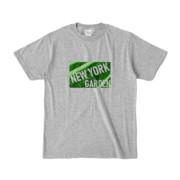 Tシャツ 杢グレー NEW_YORK_GARDEN