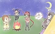 【テーマOK】「キャンプと言えば焼きマシュマロよね〜!」