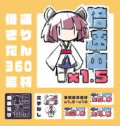 【アニメ素材】倍速きりたん360