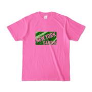 Tシャツ ピンク NEW_YORK_GARDEN