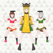 摩多羅隠岐奈、丁礼田舞、爾子田里乃を作りました。