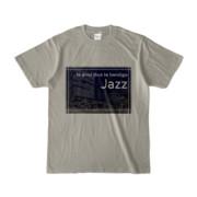 Tシャツ シルバーグレー Jazz_Night_F