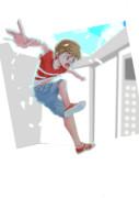 次回作ゲーム「エレベーターxxx」のビジュアルイラスト案1
