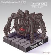 ほぼ毎日デフォルメ#735 タカアシ鎧蜘蛛
